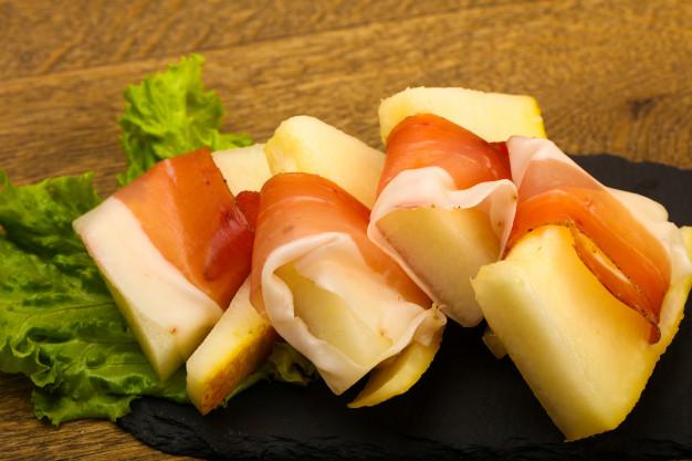 Pinchos de melón con Jamon (Maskompra)